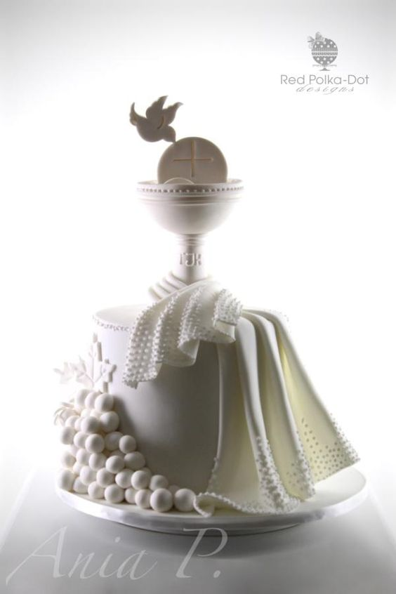 First Holy Communion - Cake by RED POLKA DOT DESIGNS (was GMSSC)
