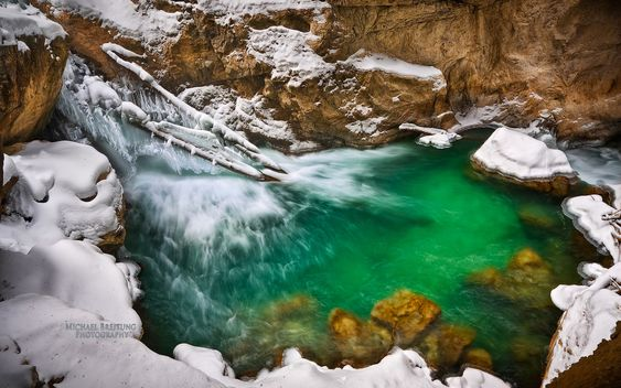 Partnach Gorge, near Garmisch-Partenkirchen, Bavaria, Germany by Michael Breitung