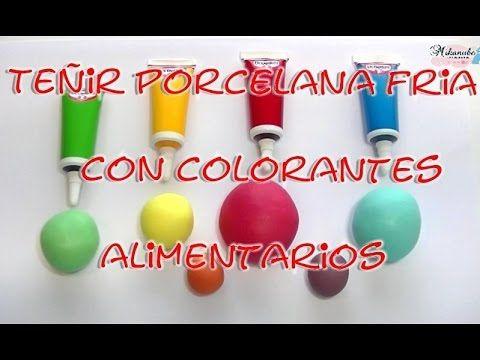 Cómo teñir porcelana fría con colorantes alimentarios. - YouTube
