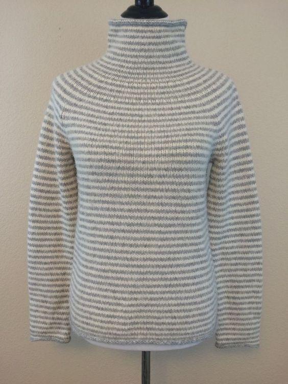 J Crew Women's Sz Medium M Sweater Rabbit Hair Wool Grey White Striped | eBay
