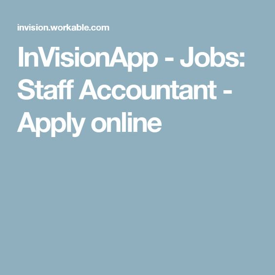 InVisionApp - Jobs Staff Accountant - Apply online Work from home - staff accountant job description