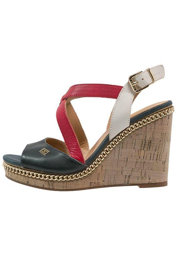 tommy hilfiger emery high heel sandaletten red white blue diy pinterest. Black Bedroom Furniture Sets. Home Design Ideas
