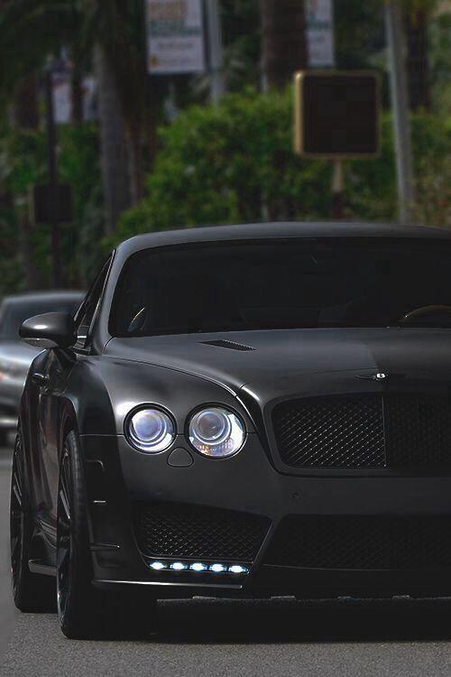 Mattè Black Finish Bentley Continental GT  #RePin by AT Social Media Marketing - Pinterest Marketing Specialists ATSocialMedia.co.uk