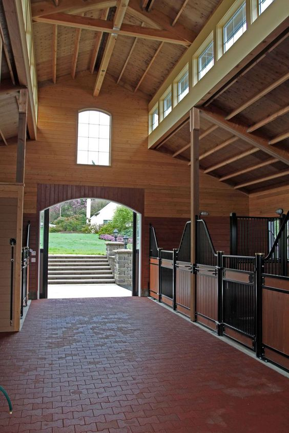Horse Equestrian Wood Indoor Stables Barn