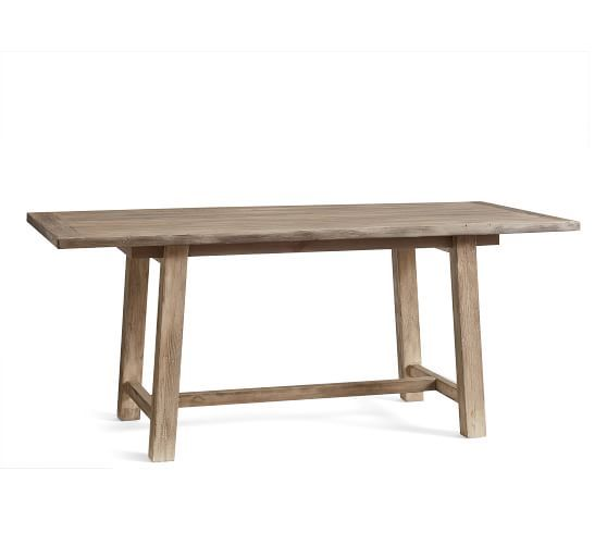 Bartol Reclaimed Wood Dining Table Cinder Gray 71 Quot L X