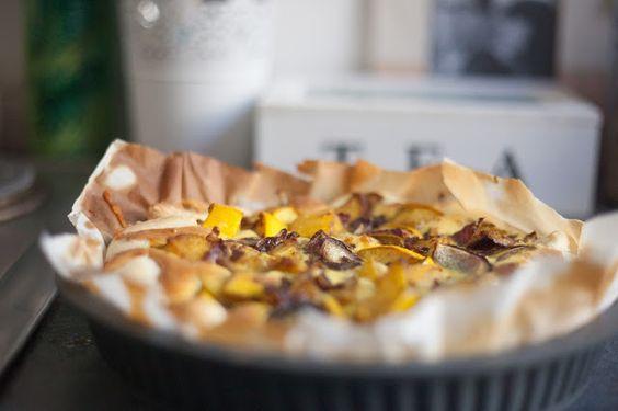 """Une recette de saison par les Twins Cook """"Quiche courge,comté & curry"""" dans un #moule à #tarte #silcone #babou à 7€"""