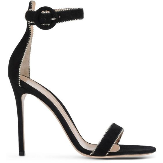 Gianvito Rossi Sandals (1 265 AUD) ❤ liked on Polyvore featuring shoes, sandals, black, black buckle sandals, ankle wrap sandals, ankle strap sandals, black ankle strap sandals y buckle shoes