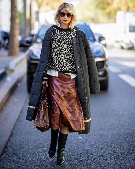 Кожаная юбка 2019: дерзкие идеи для смелых и стильных   Новости моды