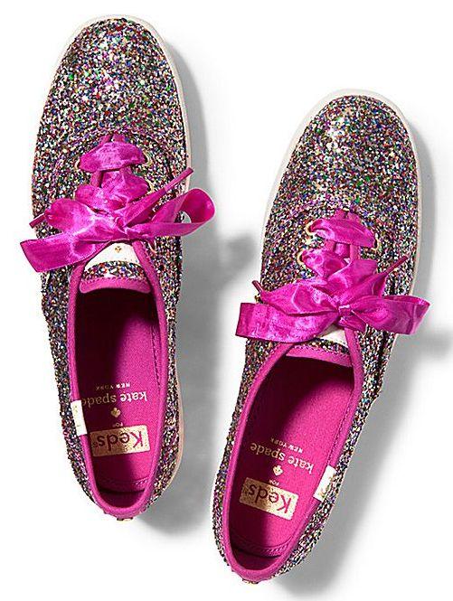 Loving these glitter kate spade keds