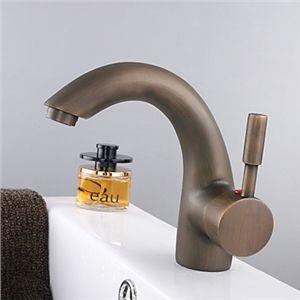 Einhand Centereingestellt Badezimmer Waschtischarmatur Antik Messing Oberfläche