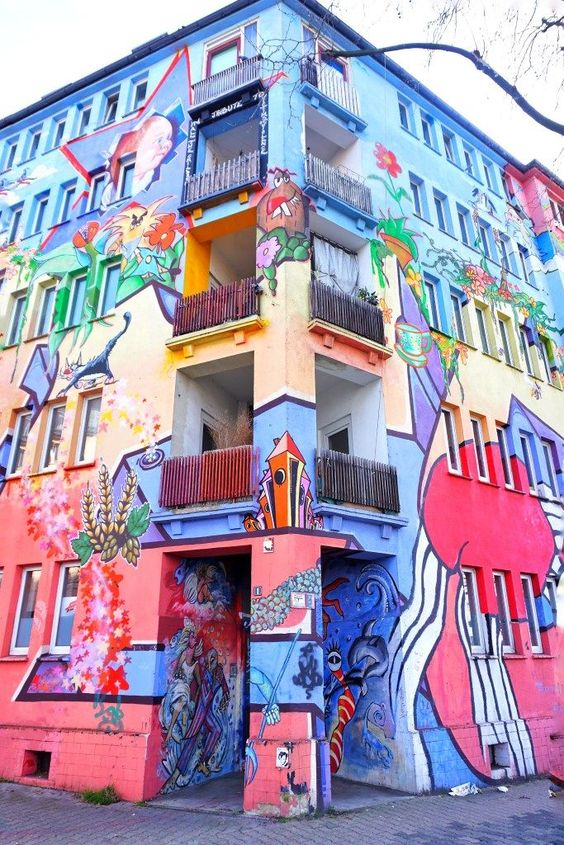Kiefernstraße Street Art Düsseldorf, Germany
