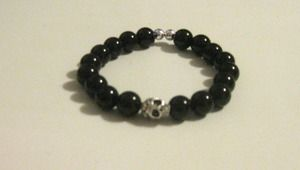#blackbeads #bracelets #accessories #skull