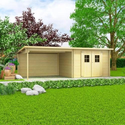 Abri De Jardin Bois Massif 28 Mm Extension Reversible Surface 20 M En 2020 Abri De Jardin Cabanon De Jardin Et Abri De Jardin Bois