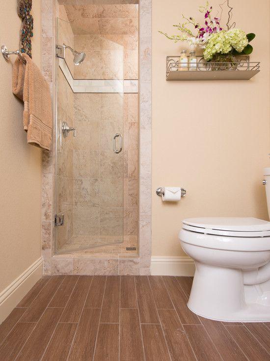 Bathroom guest bath floor weathered stable floor 4x24 for Bathroom design 3x3