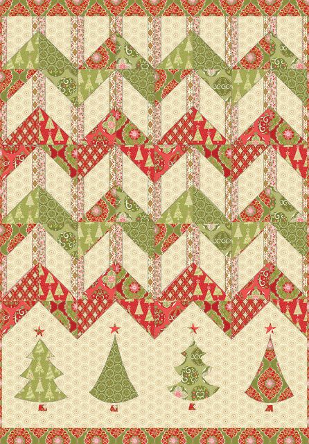 FREE pattern: Christmas Zigzag (from Blend Fabrics) Free Quilt Patterns Pinterest ...