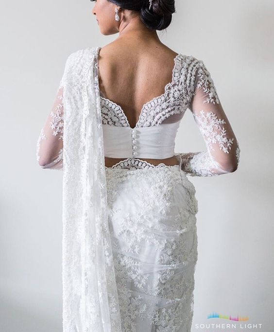 Bridal Saree   Indian/Sri Lankan Design Inspired   Beautiful & Chic   Love the details