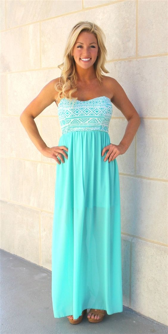 The Pink Lily Boutique - Aqua Aztec Chiffon Maxi/Coming Soon, $40.00 (http://thepinklilyboutique.com/aqua-aztec-chiffon-maxi-coming-soon/)