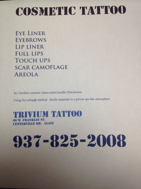 Cosmetic tattoo in Centerville Ohio