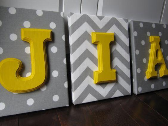 Pared lona cartas decoración infantil guardería por NurseryShoppe