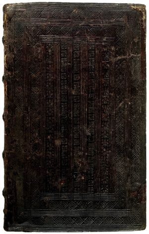 Book of Hours. Parisian binding - roll-tooled binding c. 1500