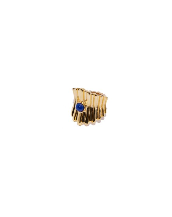 Lizzie Fortunato Ridged Ring in Lapis