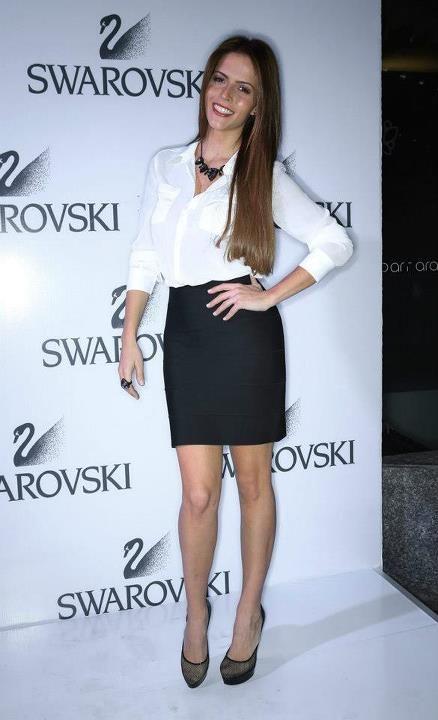 Claudia Álvarez alfombra roja Swarovski