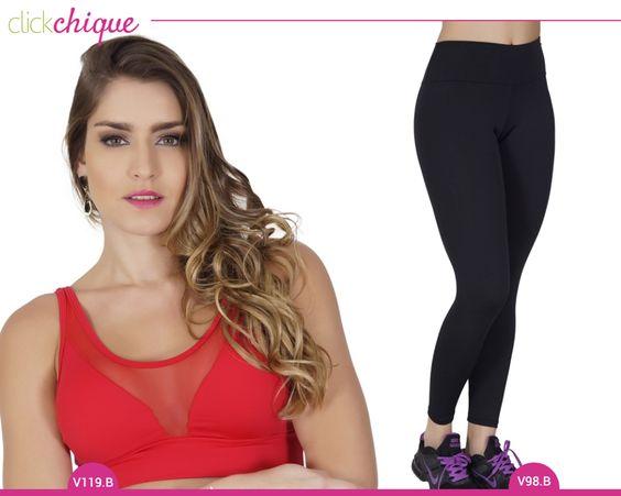 Monte seu look fitness e malhe poderosa com as peças Click Chique.  http://goo.gl/itZ2Bn top http://goo.gl/XzQns7 calça