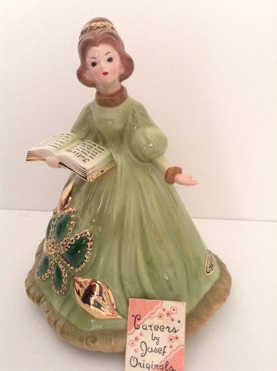 "In my last post I told you all that I had found a ""Josef Originals"" ceramic girl at one of my favorite haunts. I am not really into many figurines as they are just one more thing to dus…"