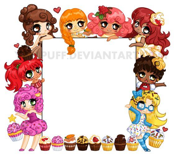 Chibi Cupcake Frame by YamPuff.deviantart.com on @deviantART