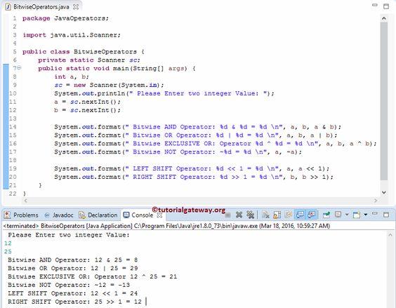 Java Ternary Operator 1 JAVA Pinterest Java - console operator sample resume