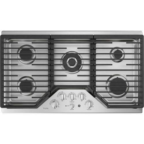 Ge Profile 36 5 Burner Gas Cooktop Pgp9036slss Stainless Steel Gas Stove Top Gas Stove Stove
