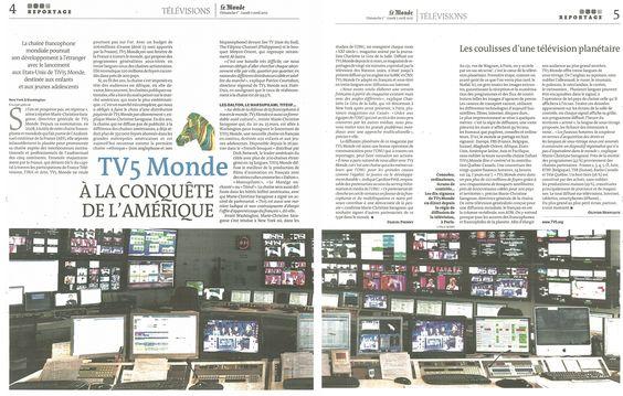 """""""TV5 Monde - A la conquête de l'Amérique"""" (Le Monde Télévisions)"""