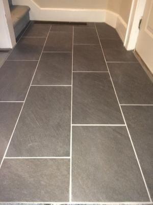 Choosing grout color slate tile