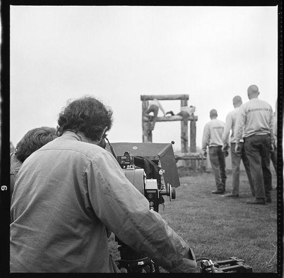 Stanley Kubrick on the set of Full Metal Jacket