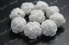 100 pçs/lote Chunky contas Gumball flor rosa Beads 20 mm acrílico para Chunky Nacklace(China (Mainland))