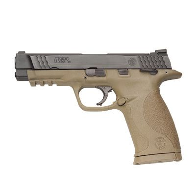 S&W M&P .45ACP in Dark Earth Brown w/ Thumb Safety.