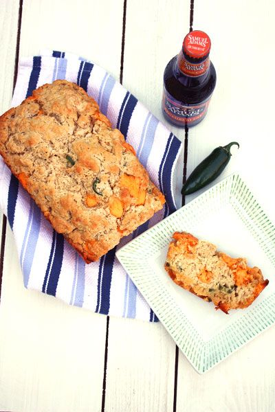 Cheddar Jalapeno Beer Bread. Does it get any better than a bread made with beer, cheddar, and jalapeno that you can have on your table in just over an hour? I don't think so!