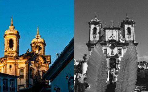 Churches in Ouro Preto Minas Gerais Brazil