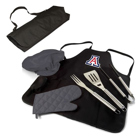BBQ Apron Tote Pro -Black (U of Arizona ) Digital Print - GRILLS ON GRILLS