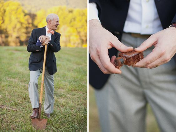 burying bourbon before your ceremony ensures good weather! jodi miller photography