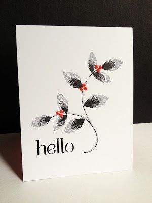 I'm in Haven: Three Embroidered Blooms Cards- gorgeous colour combo :0)