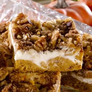 Pumpkin Cream Cheese Coffee Cake--coffee anyone? One pot per one pan of this beauty and smiles will abound...sheer contentment!