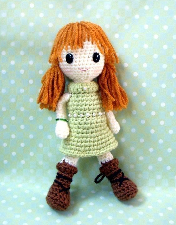 Amigurumi Doll Pdf : Amigurumi pattern jade crochet girl doll