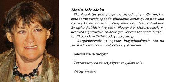 Maria Jełowicka wystawa