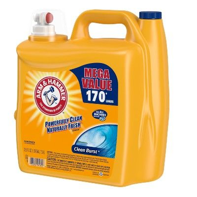 Arm Hammer Clean Burst Liquid Laundry Detergent 255 Fl Oz