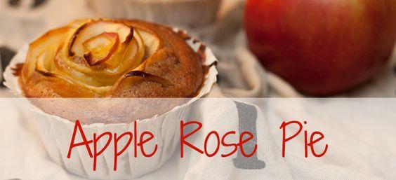 Apple Rose Pie https://omnomnomblog123.wordpress.com/2015/02/05/von-apfeln-und-rosen/
