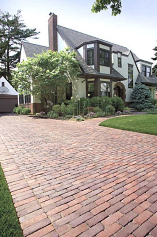 Brick patios, walks and brick driveways are among of the easiest-to-build home projects. Also, outdoor walkways and paths make your yard more inviting, increase your home's value, and make large yards easier to navigate. Brick driveway paving stones can be obtained in a wide variety of shapes, colors, and textures. This material is usually very durable when a sealer is applied to the surface.