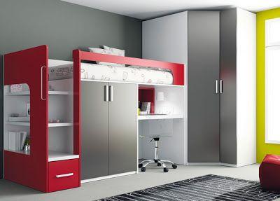 Dorm and madrid on pinterest - Dormitorios juveniles espacios pequenos ...
