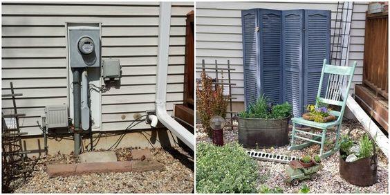 10 idee geniali su come coprire gli oggetti utili ma - Nascondere griglia giardino ...