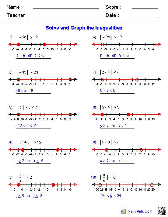 Printables Algebra 1 Inequalities Worksheet equation algebra 2 and worksheets on pinterest absolute value inequalities worksheets